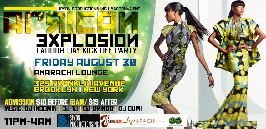 AFRICAN EXPLOSION ........ LABOR DAY KICK OFF PARTY 2013