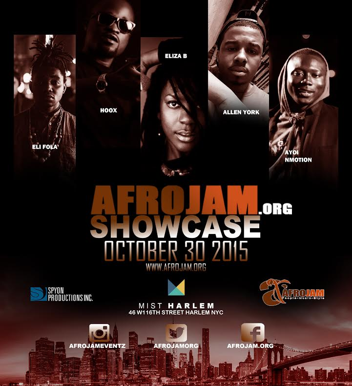 AFROJAM SHOWCASE – FRIDAY OCTOBER 30